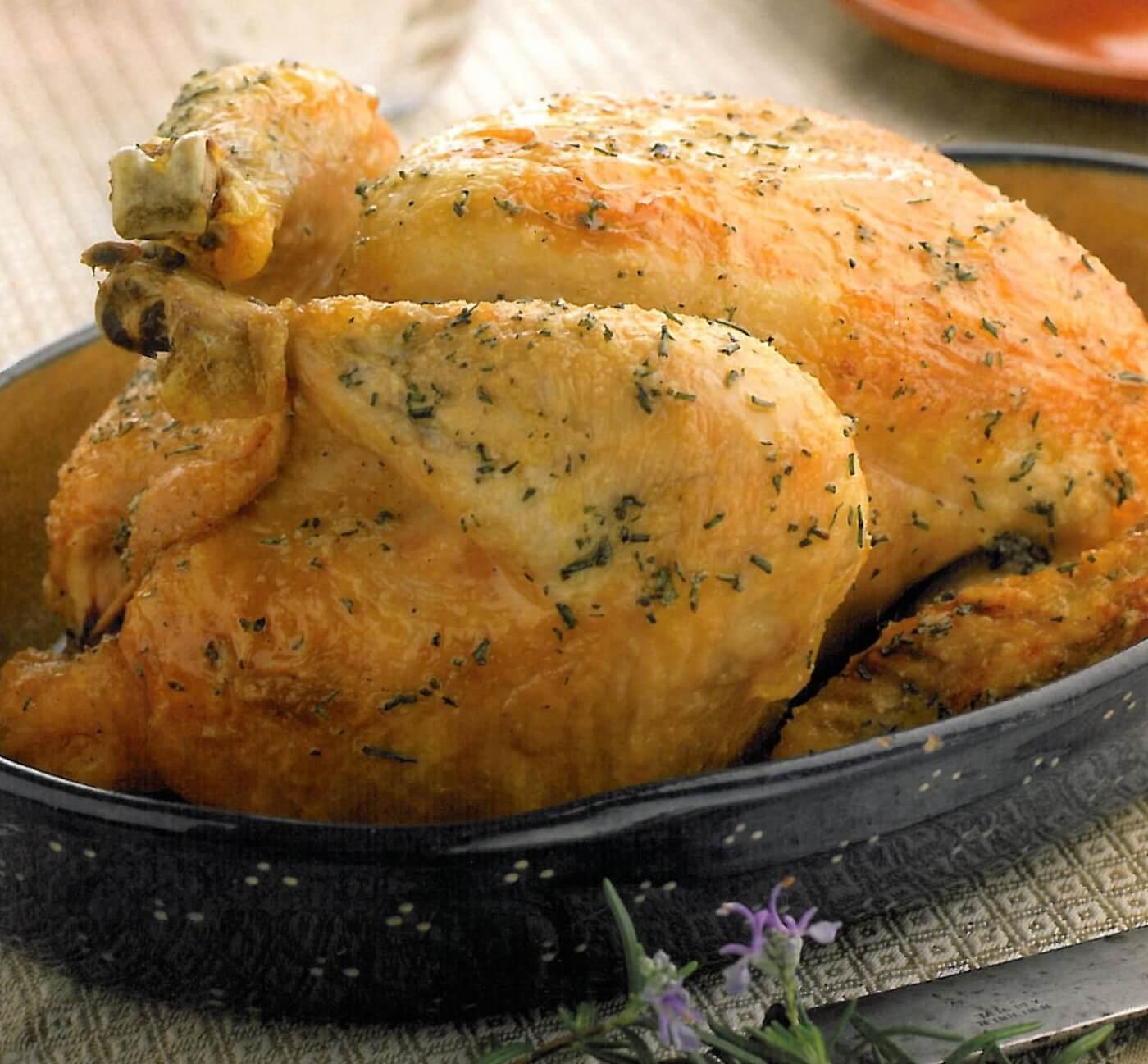 Pollo relleno asado