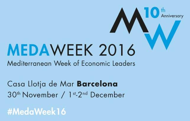 Participación en MEDAWEEK, X semana mediterránea de los líderes económicos