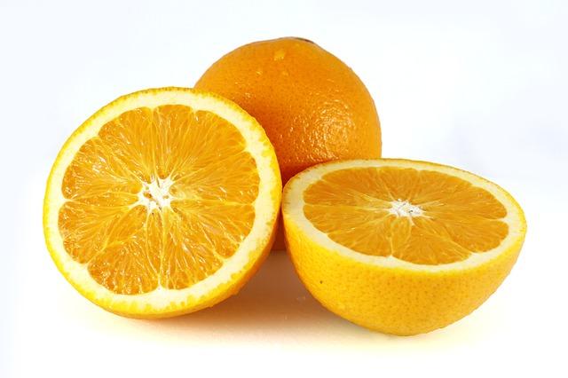 Rodajas de naranja a la menta