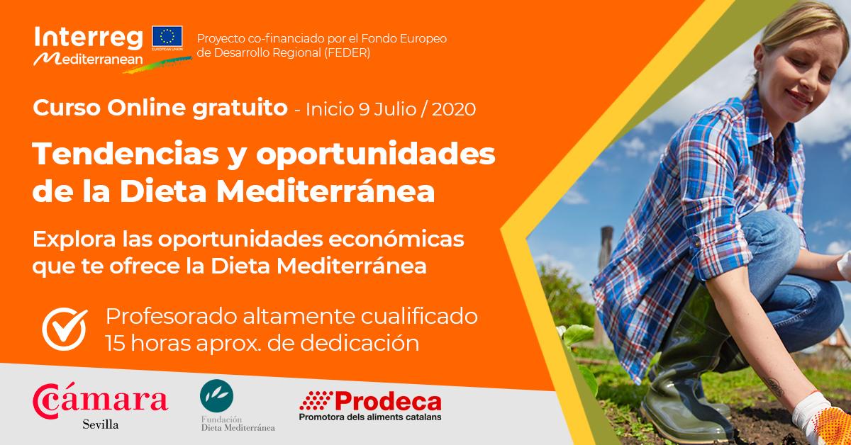 Formación online:  «Tendencias y oportunidades de la Dieta Mediterránea»