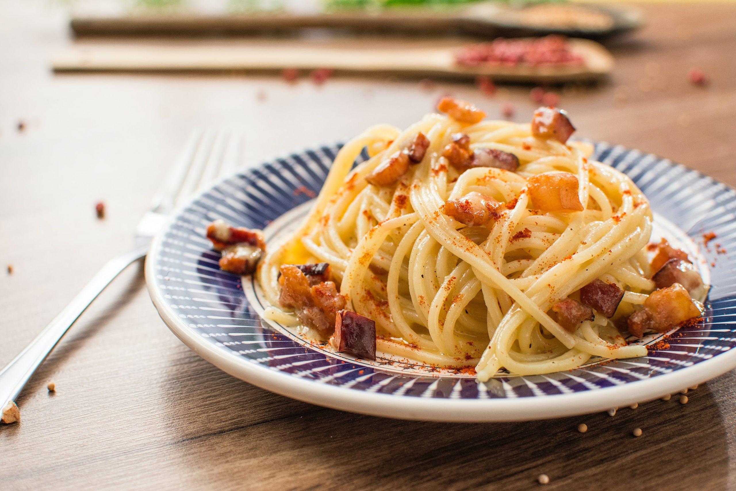 Espaguetis con pulpo
